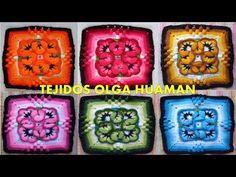 Muestras tejidos a crochet y/o ganchillo con diseños de flores especial para colchas, mantas y cojines, están hechas en lanas delgadas de diversos colores y tejidos con ganchillo número 2, también los puedes tejer de un solo color para colchitas de bebes o colchas grandes. Son varios videos tutoriales de tejidos paso a paso en español y los encuentras aquí en mi canal de YouTube: TEJIDOS OLGA HUAMAN. Todos los videos completos los puedes ver en estos enlaces: VIDEO 1…