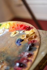 Oil Painting Tips - Organizing Your Palette Artist Life, Artist At Work, Benny And Joon, Art Watercolor, Artist Aesthetic, Crayon, Paint Brushes, Art Studios, Art Photography