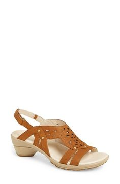 Merrell 'Veranda Link' Slingback Sandal (Women) available at Ladies Sandals, Women's Feet, Slingback Sandal, Leather Fashion, Nordstrom, Footwear, Cozy, Wedding Ideas, Link