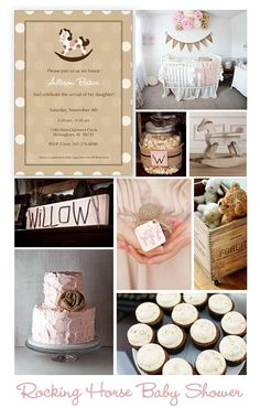 Baby Shower Inspiration- simple, slightly rustic, easy to incorporate fall colors with the baby pink