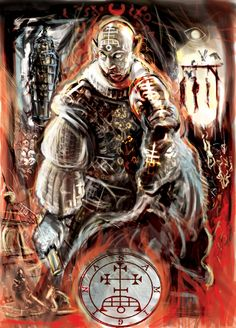 Marquis Samigina , Demon of Goetia , aka Gamigin , Gamygin or Gamigm ; commanding 30 legions of demons . Samigina usually appears as a donkey or stout man  . He is a Grand Marquis of Hell and teacher of humanities .When summoned Samigina possesses one ability that no other demon has ; he is able to reveal the status of those souls that have died and passed onto another plane of existance .
