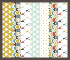 Tribal Deer Quilt fabric by mrshervi on Spoonflower - custom fabric