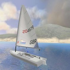 Race this boat in VR Regatta for #htcvive #laserclass #yacht #vr #virtualreality…