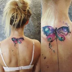 Watercolor Butterfly Tattoo Design by Simona Blanar