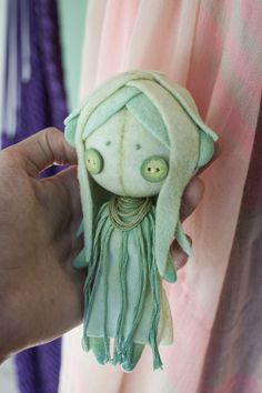 Felt doll nymph by b00ts.deviantart.com on @deviantART