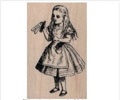 Deep Red Rubber Cling Stamp Renaissance Art Girl
