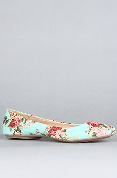 *Sole Boutique The Sienna XXII Shoe in Turquoise Floral print flats by Gomax; Denim Shoes, Sock Shoes, Shoe Boots, Floral Flats, Pink Flats, Cute Flats, Cute Shoes, Oxfords, Office Shoes