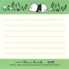 cute Winnie the Pooh bear memo pad paper block pad 3