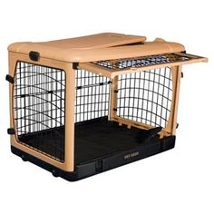 Dog crate we'd like to get. Our dog uses his crate as a den (to get away from the kids). This would eliminate the door hanging open into the walkway! :) $200+