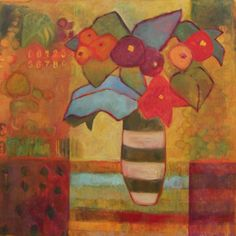 """Contemporary Artists of New Mexico: Contemporary Abstract Still Life Flower Art Painting """"Summertime"""" by Santa Fe Artist Annie O'Brien Gonzales Matisse, Expressionist Artists, Paintings I Love, Floral Paintings, Oil Paintings, Flower Art, Life Flower, Art Flowers, Abstract Flowers"""