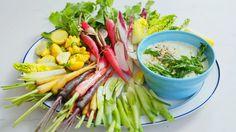 Green Goddess Whipped Feta Dip Recipe | Bon Appetit