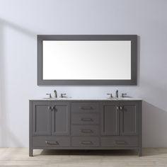 "Ankney 72"" Double Bathroom Vanity Set with Mirror"