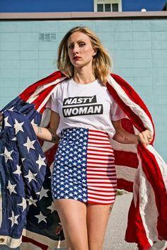 7d91cb0b9 The Nasty Americana Tee. Woman ShirtWhite CottonCheer Skirts TeesShirtsFeminist ...