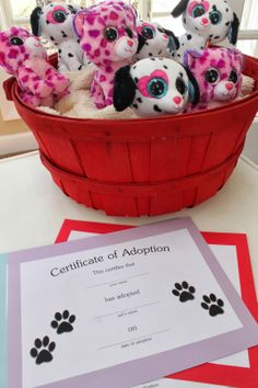 Keeping up with the Kiddos: Crafts   -Puppy adoption bday party