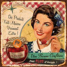 étiquette confiture fraise