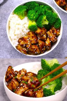 Delicious Teriyaki Chicken served with broccoli in a rice bowl, easy to make in just 15 minutes for a quick weeknight dinner idea