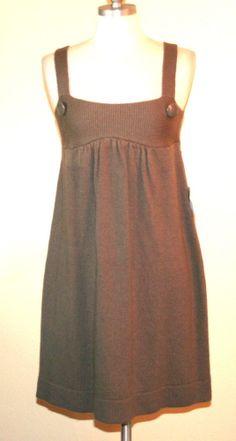 Victorias Secret Moda International Taupe Wool Blend Sweater Dress/Jumper