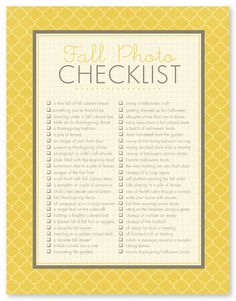 Capture meaningful memories this Fall with this checklist of 50 Fall photo ideas!
