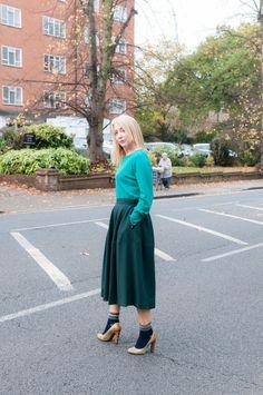 Green Cos Skirt Size EU38/UK10