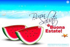 CDB CARTOLINE Compleanno per Tutti i Gusti! : Cartolina BUON SABATO e Buona Estate! Da un Mare L...
