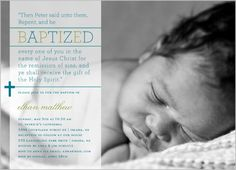 Inviting Scripture Boy Baptism Invitation! Love it! Will have to make for Baby's special day!