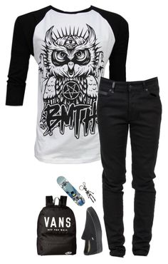 """""""Untitled #1602"""" by xxghostlygracexx ❤ liked on Polyvore featuring Sykes, County Of Milan, Vans and Alexander McQueen"""
