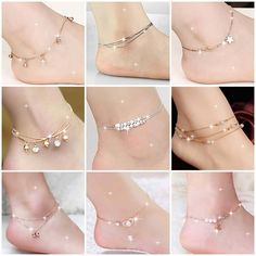 Tips For Jewelry Lovers – Brook Jewellers Ankle Jewelry, Hand Jewelry, Girls Jewelry, Jewellery, Women's Jewelry, Cute Anklets, Silver Anklets, Hand Bracelet, Anklet Bracelet
