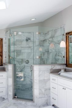 New bath room fixer upper joanna gaines young couples ideas Master Shower, Master Bathroom, Bathroom Gray, Bathroom Colors, Fixer Upper, Bathroom Renos, Bathroom Ideas, Bathroom Showers, Bath Shower