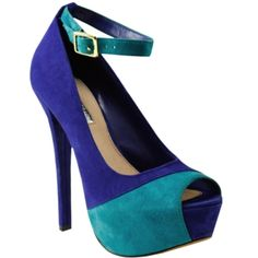 blue prom shoes