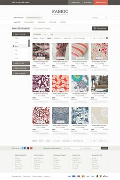 Fabric Beautiful on Web Design Served