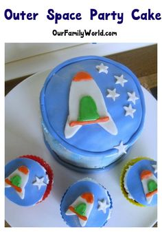 Outer Space Party Cake Recipe - Make and Decorate an Outer Space Cake and…