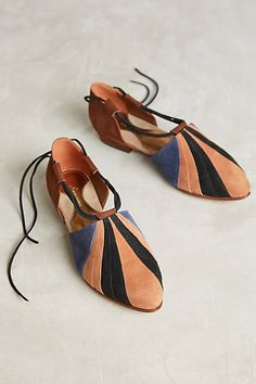 Luiza Perea Patchwork Flats #anthropologie