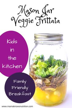 Mason Jar Veggie Frittata - Mama Knows Nutrition Healthy Meals For Kids, Kids Meals, Healthy Recipes, Toddler Nutrition, Nutrition Tips, Easy Toddler Lunches, Toddler Food, Veggie Frittata, Breakfast For Kids