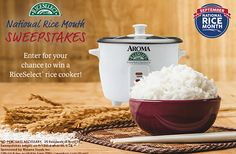 RiceSelect Rice Cooker Sweepstakes - http://freebiefresh.com/riceselect-rice-cooker-sweepstakes/