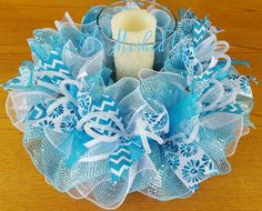 Hey, I found this really awesome Etsy listing at https://www.etsy.com/listing/267755248/deco-mesh-springsummer-table-centerpiece