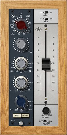 Neve 1073 Preamp & EQ Plug-In Collection - Software plug-ins are great replacements for their very pricey hardware counterparts. EQ's, Compressors/Limiters, Reverbs/Delays, give the mix depth and dynamics Studio Equipment, Studio Gear, Sound Studio, Internet Radio, Noise Reduction, Recording Studio, Techno, Creme, Plugs