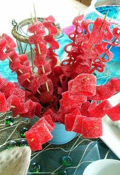 Mermaid themed seaweed kabobs!