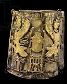 Bracelet belonging to Queen Kama, from Tell Moqdam (Leontopolis) Late Period (gold)