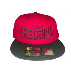 I Am President Snapback - Red/Black Red/Black hat with black lettering 100% cotton Size: OS Color: Red/Black  Price: $24.99