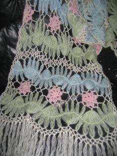 Wow - like a meadow of flowers by a stream Hairpin Lace Crochet, Crochet Motif, Crochet Shawl, Crochet Yarn, Crochet Hooks, Crochet Stitches Patterns, Lace Patterns, Crochet Blouse, Crochet Scarves