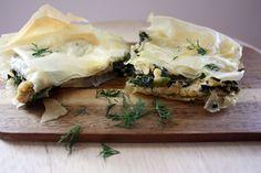 Vegan spanakopita (Greek spinach and feta pie)