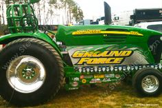 Ground Force John Deere Tractor Pull owned by Mike Whitney. Ground Force Tractor Pull wrap by Steel Skinz Graphics. www.SteelSkinz.com