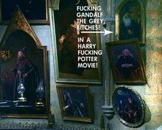 Gandalf in Dumbledore's study!!!
