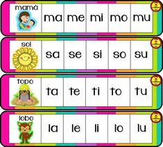 Las Silabas En Espanol Para Imprimir images, similar and related articles aggregated throughout the Internet. Spanish Lessons For Kids, Spanish Activities, Teaching Spanish, Spanish Classroom, Preschool Activities, Elementary Spanish, Bilingual Kindergarten, Kindergarten Literacy, Pre Writing
