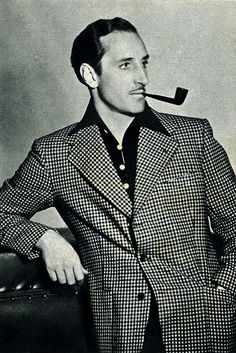 Basil Rathbone, one of my favorite actors of all time.  (He might even be my absolute favorite.  Shh...  Don't tell Vincent Price.)