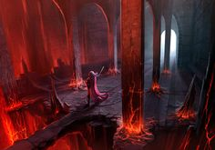 Fire Caves - Concept painting. by ANTIFAN-REAL on DeviantArt