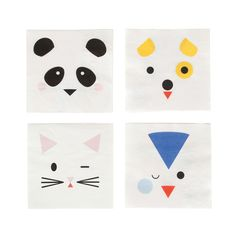 Shop MY LITTLE DAY Partyware with Free Delivery. Super cute animal napkins that will look great on any party table. Discover more at The Original Party Bag Company with next day delivery.Paper napkins with mini animals, designed by My Little Day. Party Animals, Animal Party, Zoo Animals, Happy Birthday Banners, 1st Birthday Parties, Third Birthday, Mini, Super Cute Animals, Party Napkins