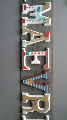 Letras de madera, tema de piratas / habitación del bebé. Letras de madera / vivero /boy de sala / Letras de madera. Regalo del bebé