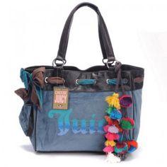 http://www.bagsandtracksuits.com/juicy-couture-daydreamer-ombre-logo-blueblack-handbags-p-624.html       Juicy Couture Daydreamer Ombre Logo Blue/Black Handbags