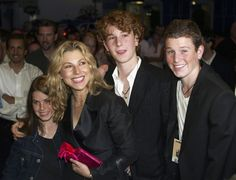 Tatum O'Neal and her kids with McEnroe